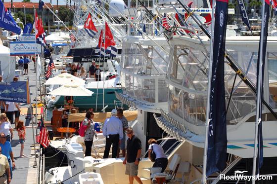Boat Show Busy Docks