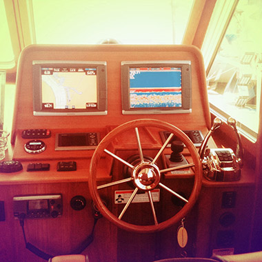 Boat Steering Wheel Feature