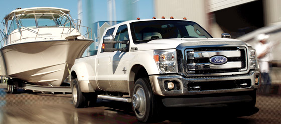 Ford F-450 Towing Boat