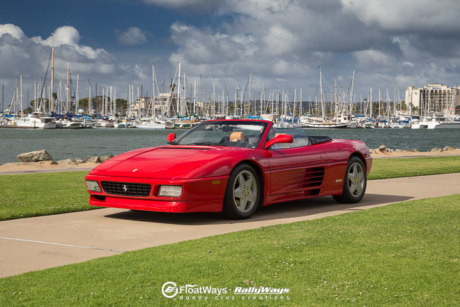 Ferrari 348 Spider at the Marina