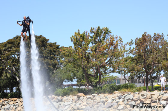 JetLev Flying at the San Diego Yacht and Boat Show