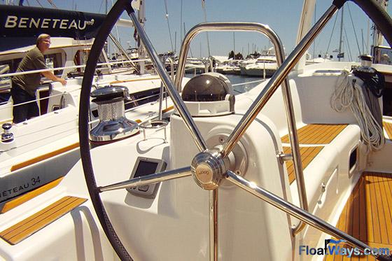 Large Benetetau Sailboat Steering Wheel