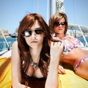 Girls on Sailboat